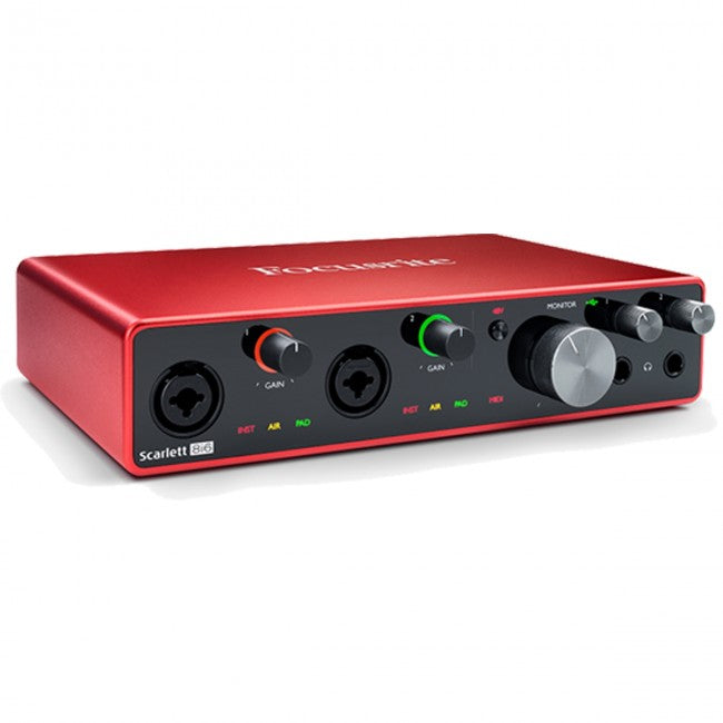 Focusrite Scarlett 8i6 USB Audio Interface (Generation 3) 8-in/6-out