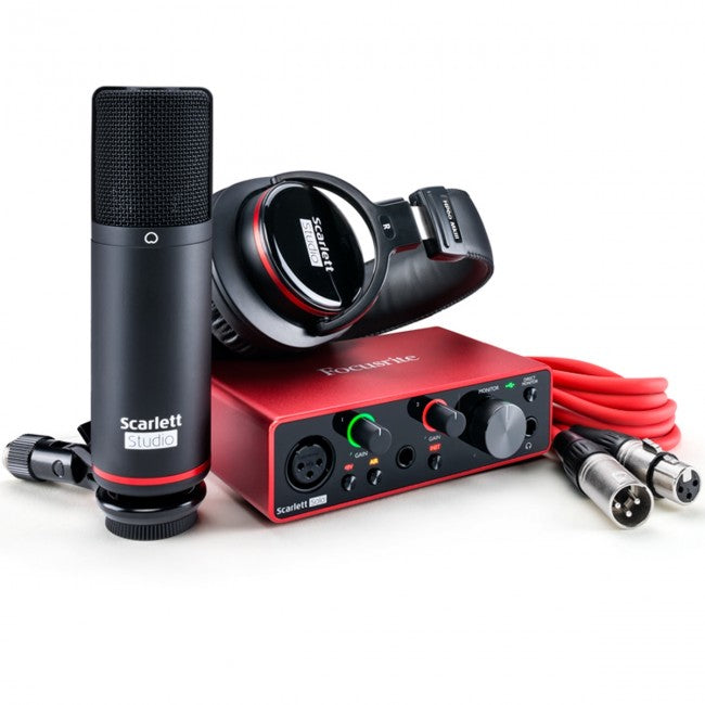Focusrite Scarlett Solo Studio USB Audio Interface (Generation 3) 2-in/2-out w/ Mic & Headphones