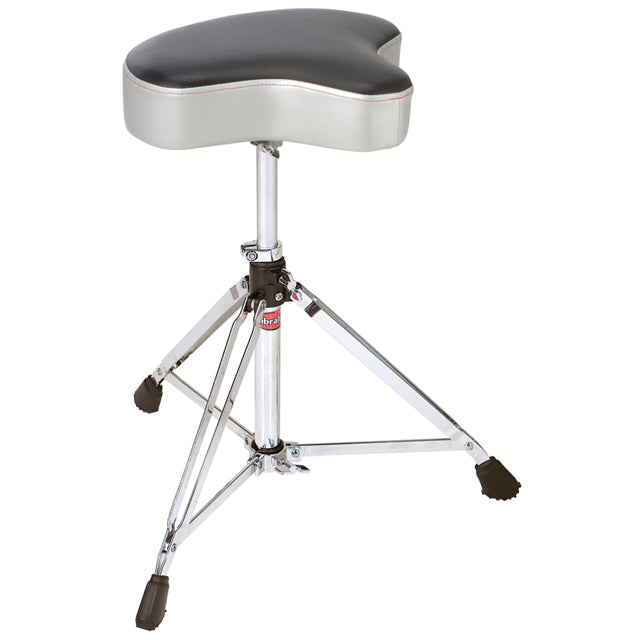Gibraltar 6608MSG Drum Throne Stool Double Braced Motorcycle Style Grey Silver Finish GI6608MSG