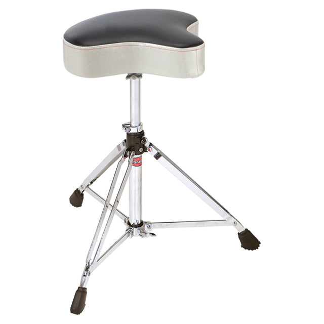 Gibraltar 6608MSW Drum Throne Stool Double Braced Motorcycle Style White Sparkle Finish GI6608MSW