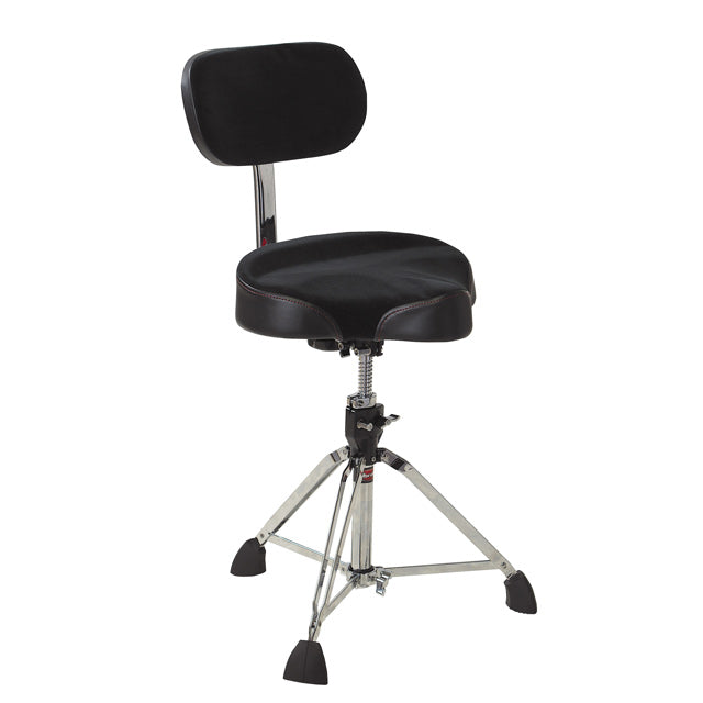 Gibraltar 9608MB Drum Throne Stool Oversized Motorcycle Seat w/ Adjustable Backrest GI9608MB