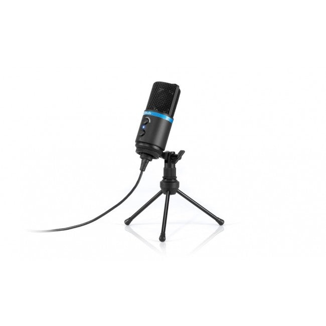 IK Multimedia iRig MIC Studio Black Ultra-Portable Large Diaphragm Condenser Microphone