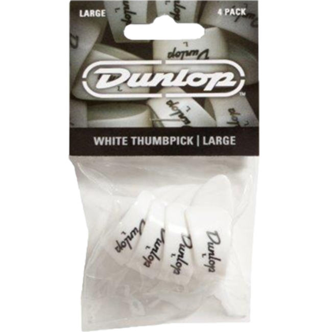 Jim Dunlop JPTPLW Large White Thumbpicks Players Pack (4 Picks)