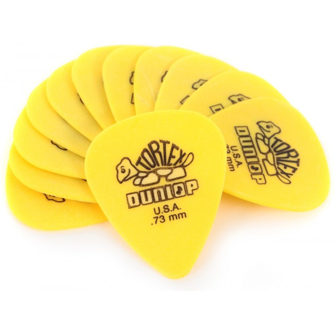 Jim Dunlop .73m Yellow Picks