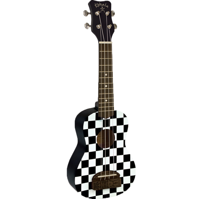 Kohala Series Concert Ukulele Checkerboard Finish Uke