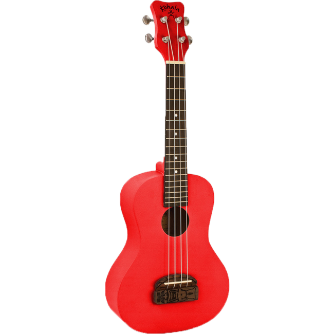 Kohala Series Soprano Ukulele Red Finish Uke