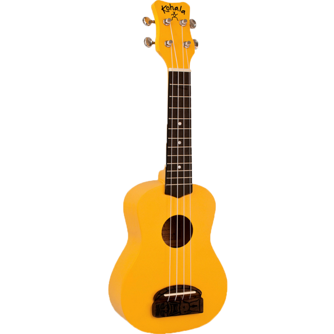 Kohala Series Soprano Ukulele Yellow Finish Uke