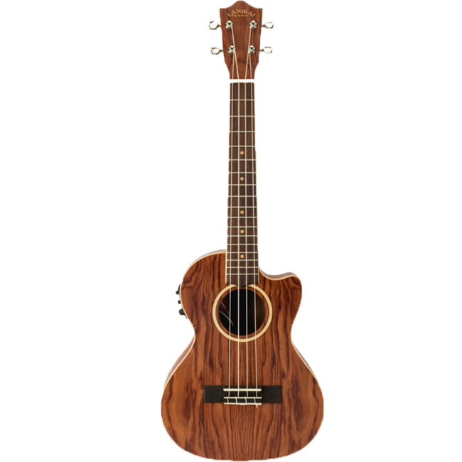 Lanikai Bubinga Series Tenor Ukulele Natural Satin w/ Pickup & Deluxe Gig Bag