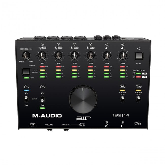 M-Audio AIR 192|14 USB Audio Interface 8-In/4-Out 24/192 Input/Output
