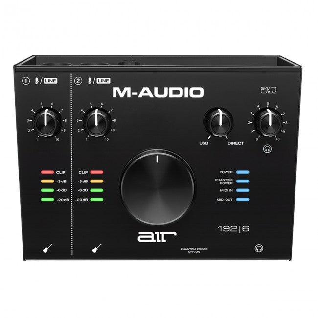 M-Audio AIR 192|6 USB Audio/Midi Interface 2-In/2-Out 24/192 Input/Output