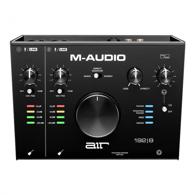 M-Audio AIR 192|8 Audio Midi Interface 2-In/4-Out 24/192 Input/Output