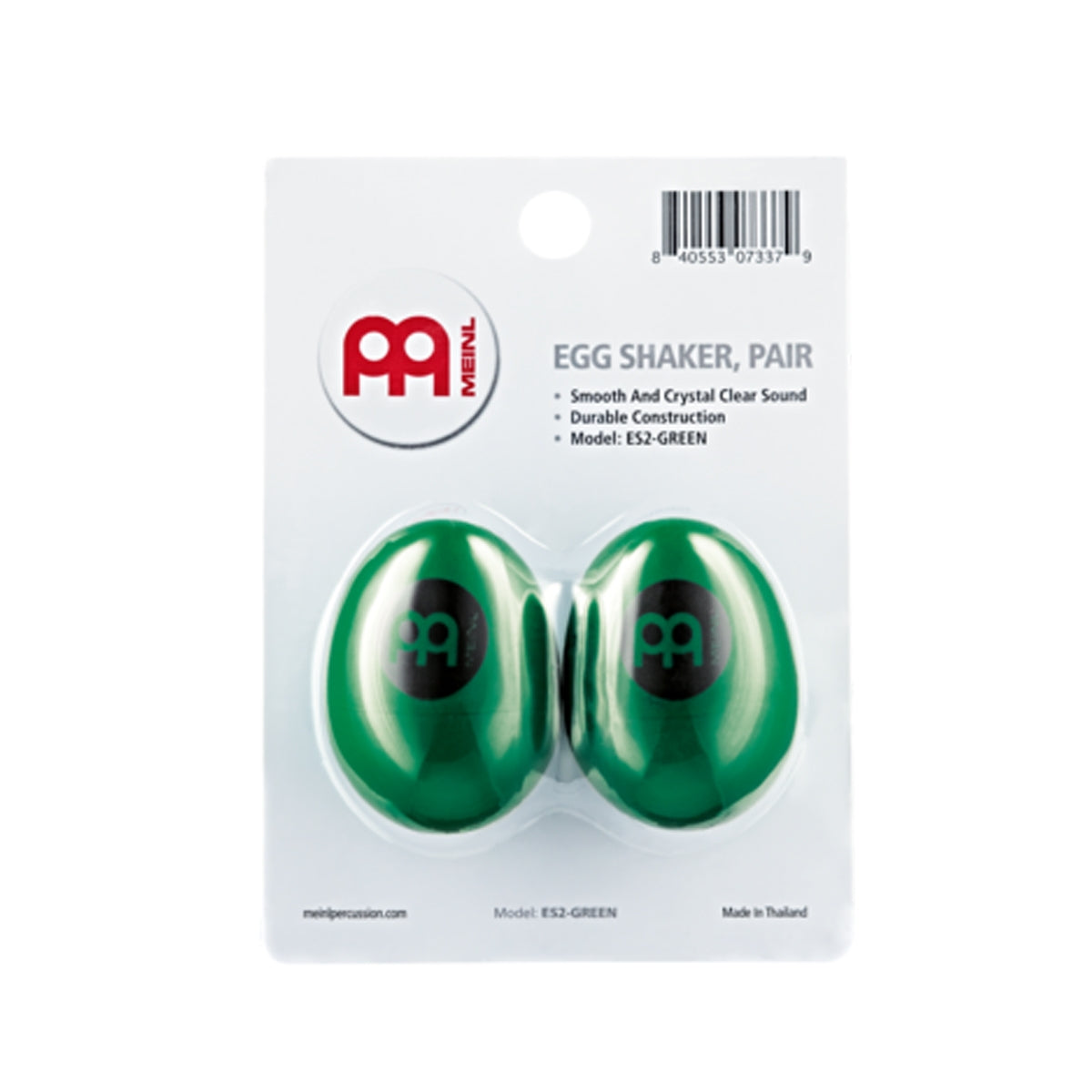 Meinl ES2-G Egg Shaker Pair Green