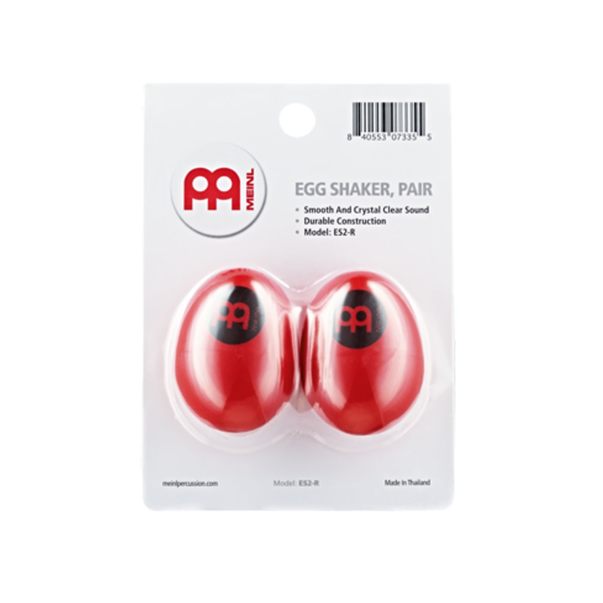 Meinl ES2-R Egg Shaker Pair Red