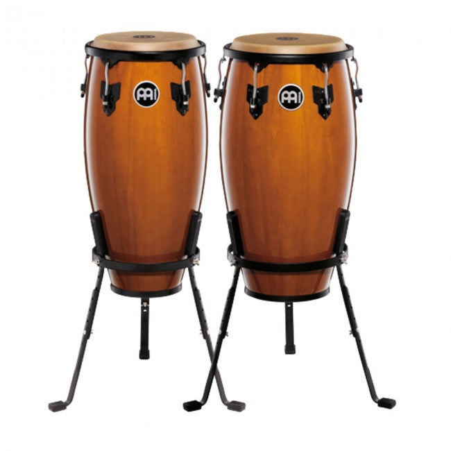 Meinl HC512MA Headliner Series Wood Conga Set 11 & 12inch Maple w/ Basket Stands