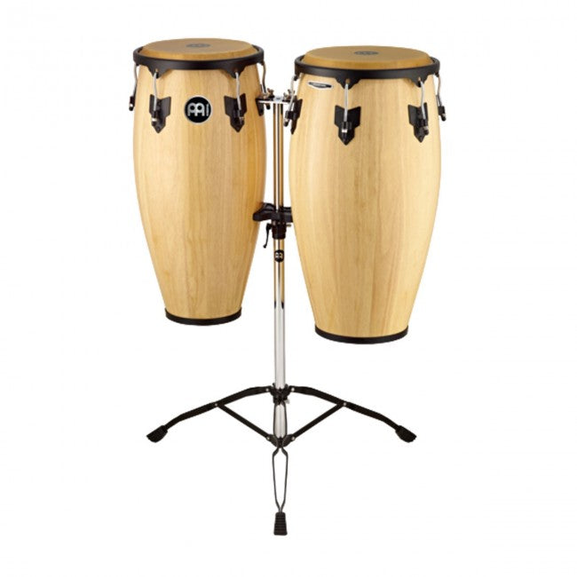 Meinl HC812NT Headliner Series Wood Conga Set 11 & 12inch Natural w/ Double Stand