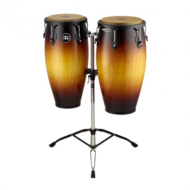 Meinl HC812VSB Headliner Series Wood Conga Set 11 & 12inch Vintage Sunburst w/ Double Stand