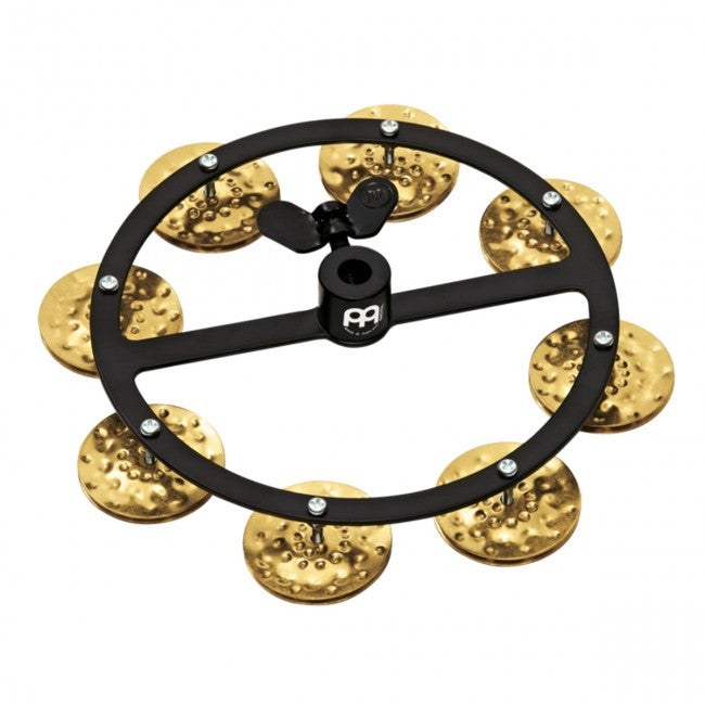 Meinl HTHH1B-BK Hi-Hat Tambourine Black w/ Single Row Brass Jingles