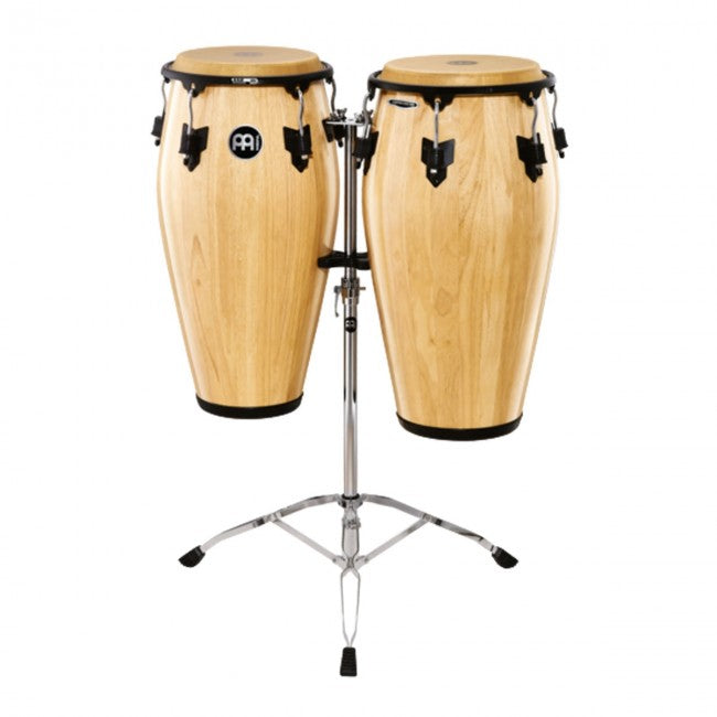 Meinl MCC-SET-NT Marathon Classic Series Wood Conga Set 11 & 11 3/4inch Natural w/ Stand