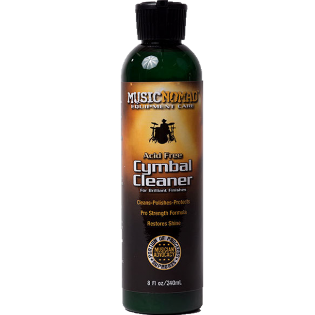 Music Nomad MN111 Acid Free Cymbal Cleaner, Polisher, Protectant - 240ml