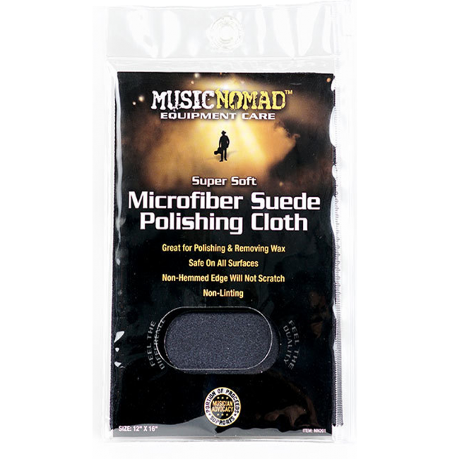 Music Nomad MN201 Microfiber Suede Polishing Cloth 12x16inch