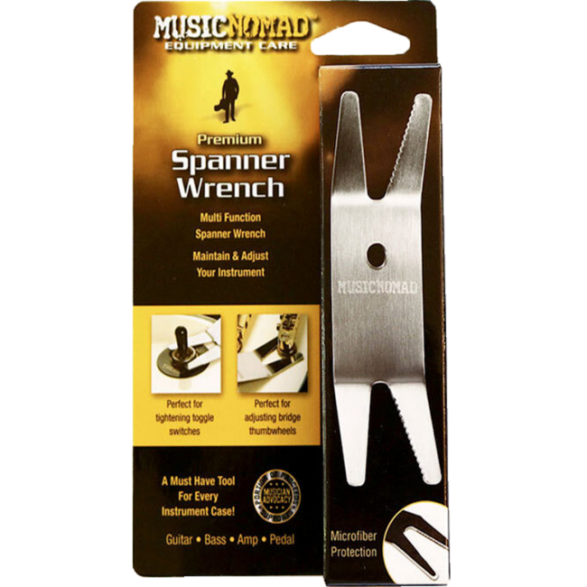 Music Nomad MN224 Premium Spanner Wrench w/ Microfiber Suede Backing