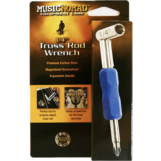 Music Nomad MN231 Premium 1/4inch Truss Rod Wrench w/ Magnetized Screwdriver