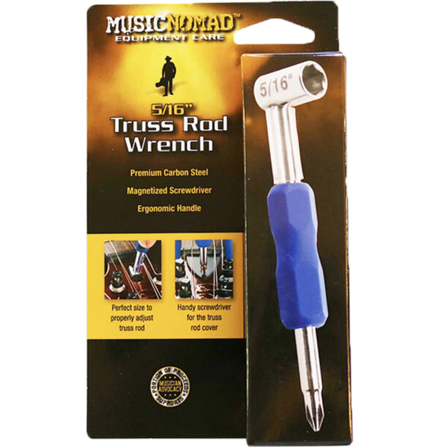 Music Nomad MN232 Premium 5/16inch Truss Rod Wrench w/ Magnetized Screwdriver