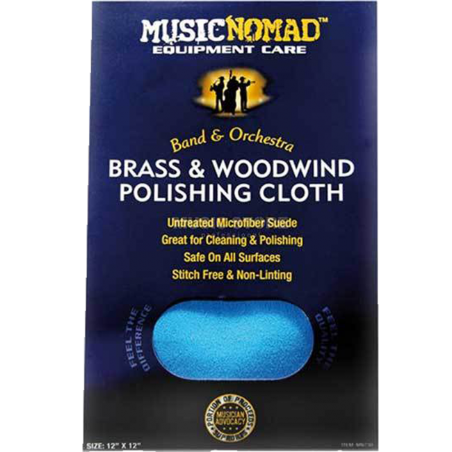 Music Nomad MN730 Brass & Woodwind Untreated Polishing Cloth 12x12inch