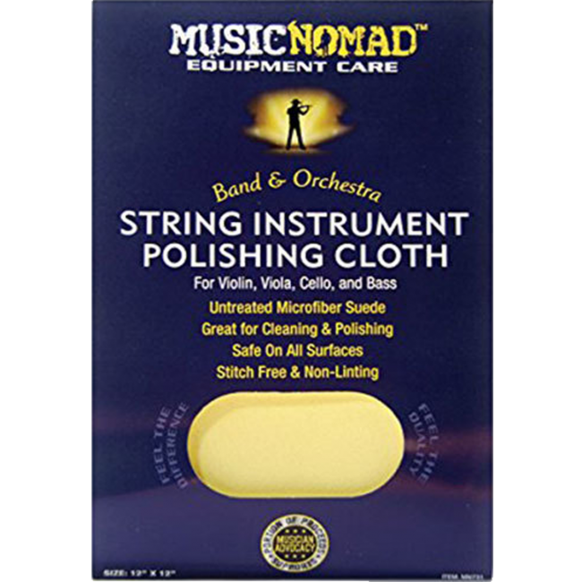 Music Nomad MN731 Untreated Polish Cloth For Violins, Viola, Cello & Bass 12x12inch