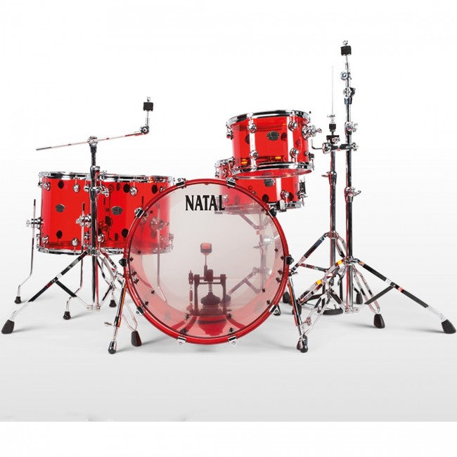 Natal Arcadia Acrylic Drum Kit Red