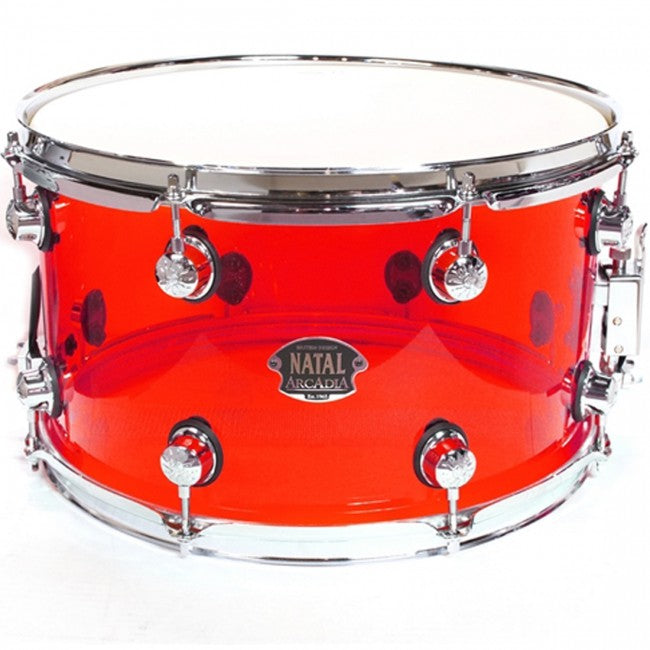 Natal Arcadia Acrylic Snare Drum Red 14x8