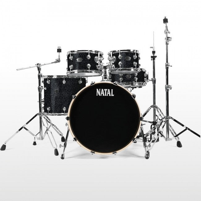 Natal Arcadia Drum Kit Black Sparkle Fast