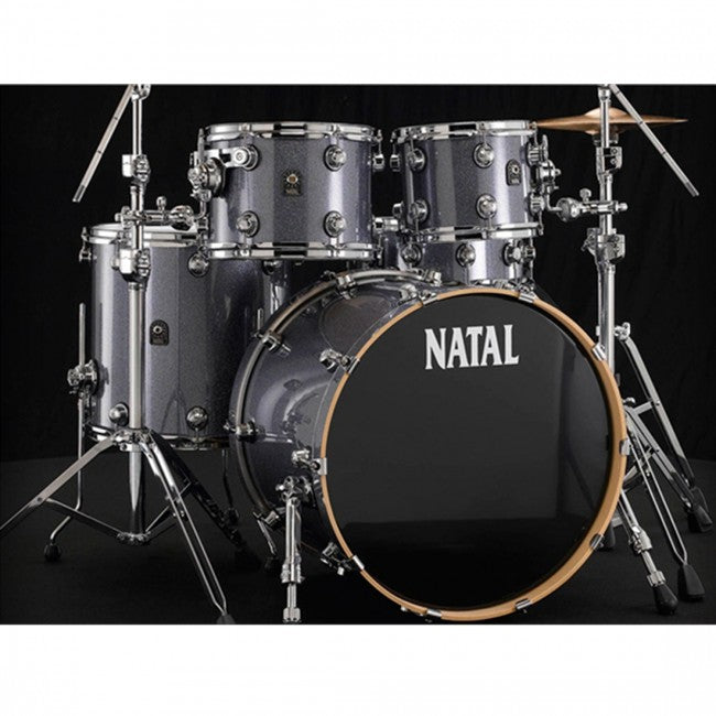 Natal Ash Drum Kit Grey Sparkle