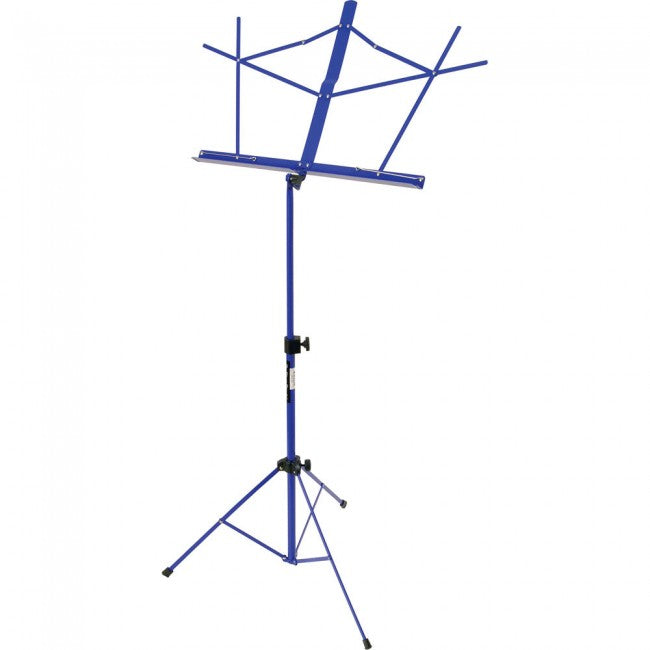 On Stage SM7122LBB Blue Music Stand with Bag