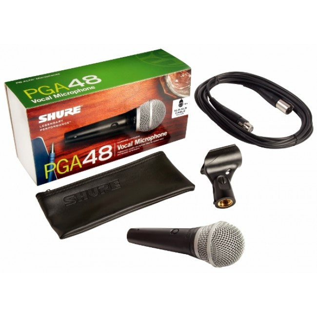 Shure PGA48 Wired Microphone Handheld Mic Vocal w/ XLR-XLR Cable