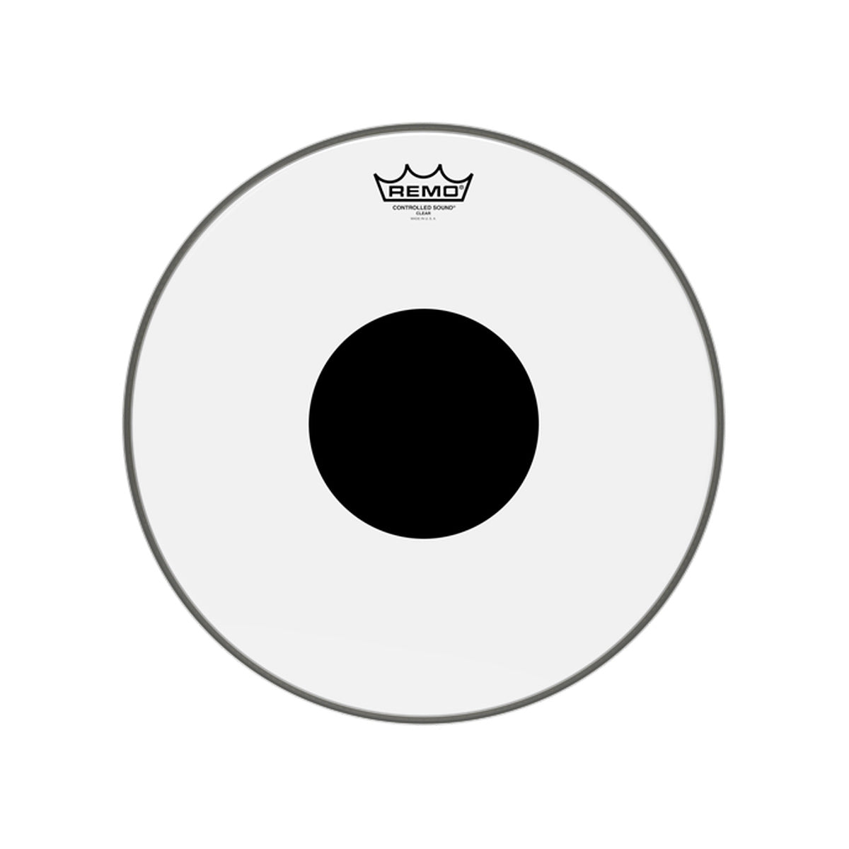 Remo CS-0315-10 Controlled Sound Drum Head Skin 15 inch Clear 15'' w/ Dot
