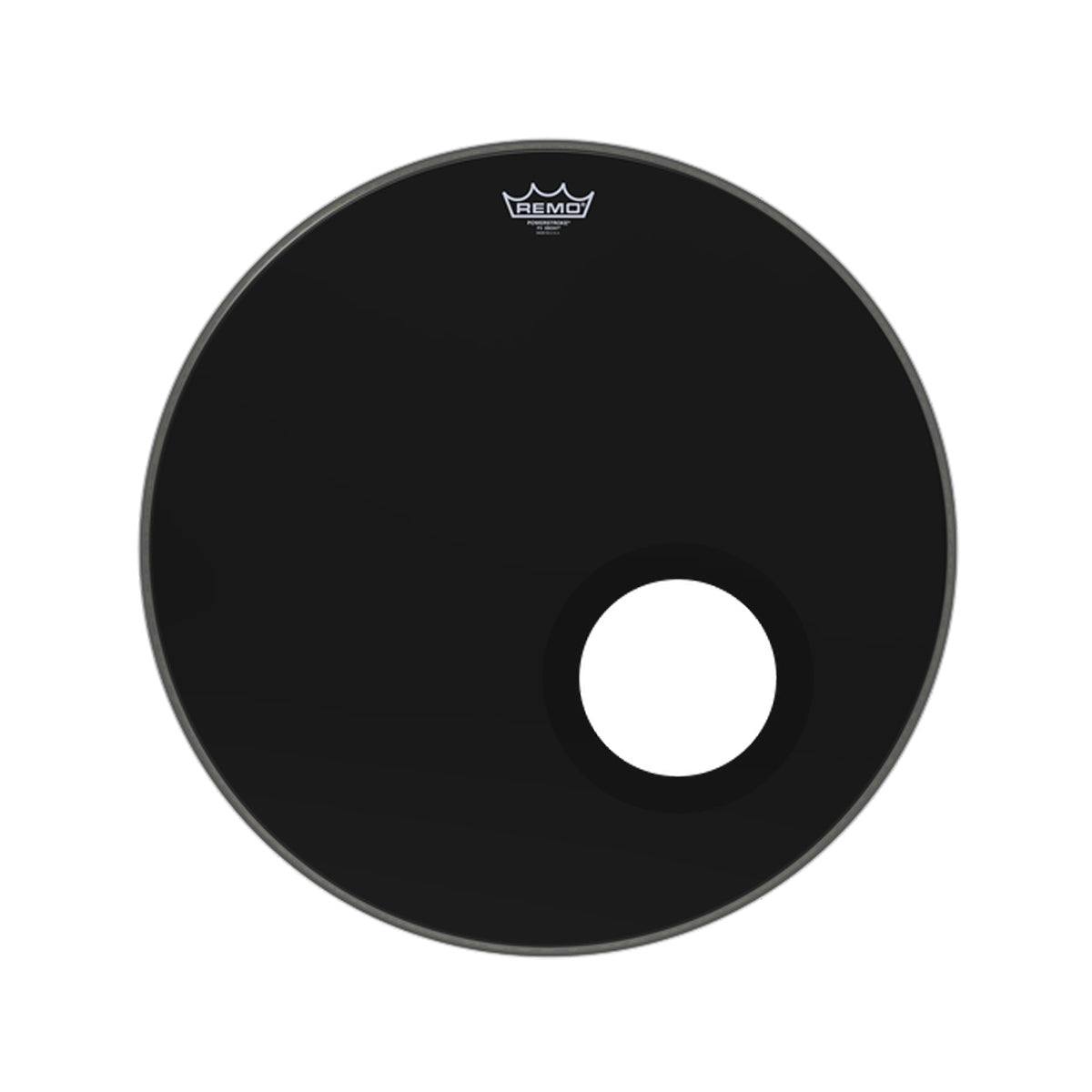 Remo P3-1022-ES-DM 22inch PS3 Powerstroke 3 w/ Black Dynamo Drum Head Skin