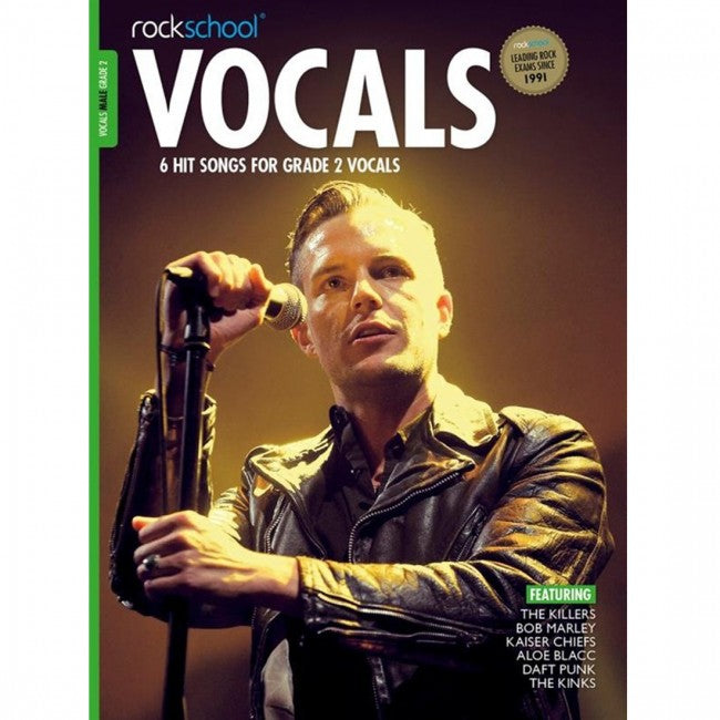 ROCKSCHOOL Vocals Grade 2 Male 2014-2020 Book