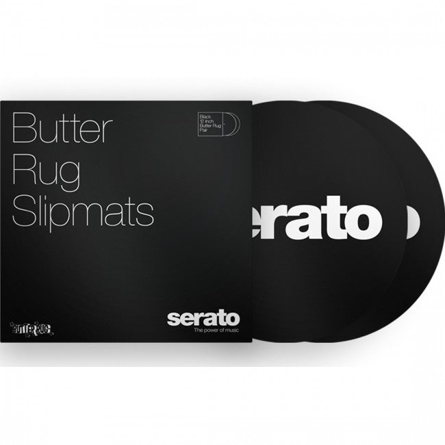 "Serato 12"" 'Butter Rug' Slipmats Black"