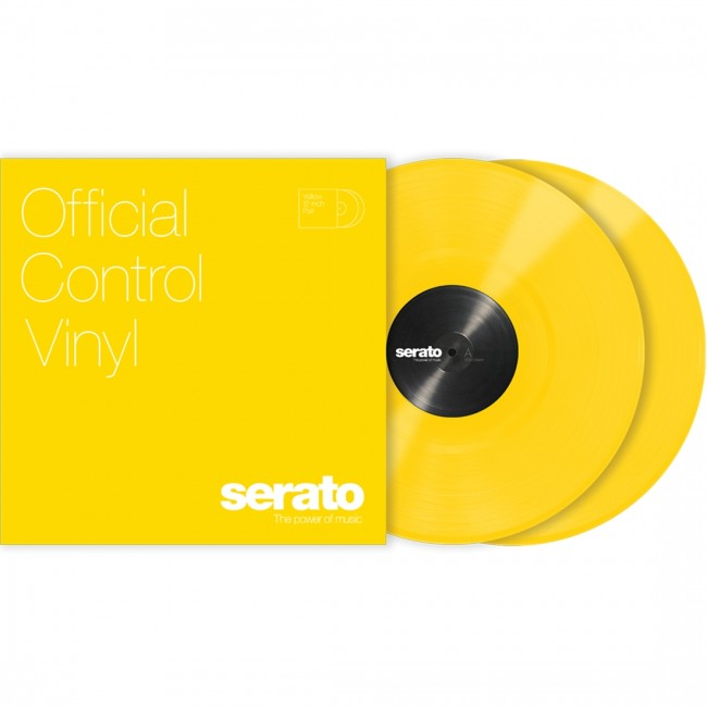 "Serato 12"" Control Vinyl Standard Colours Yellow"