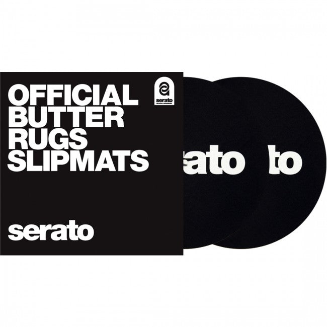 Serato 7' 'Butter Rug' Slipmats Black