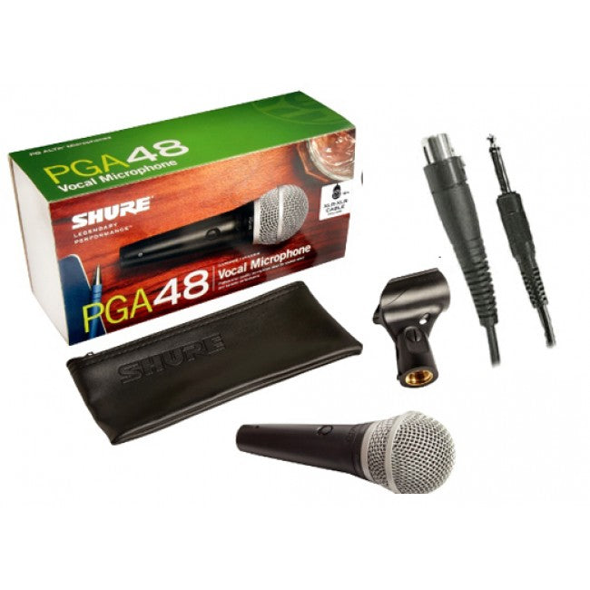 Shure PGA48 Wired Microphone Handheld Mic Vocal w/ XLR-QTR
