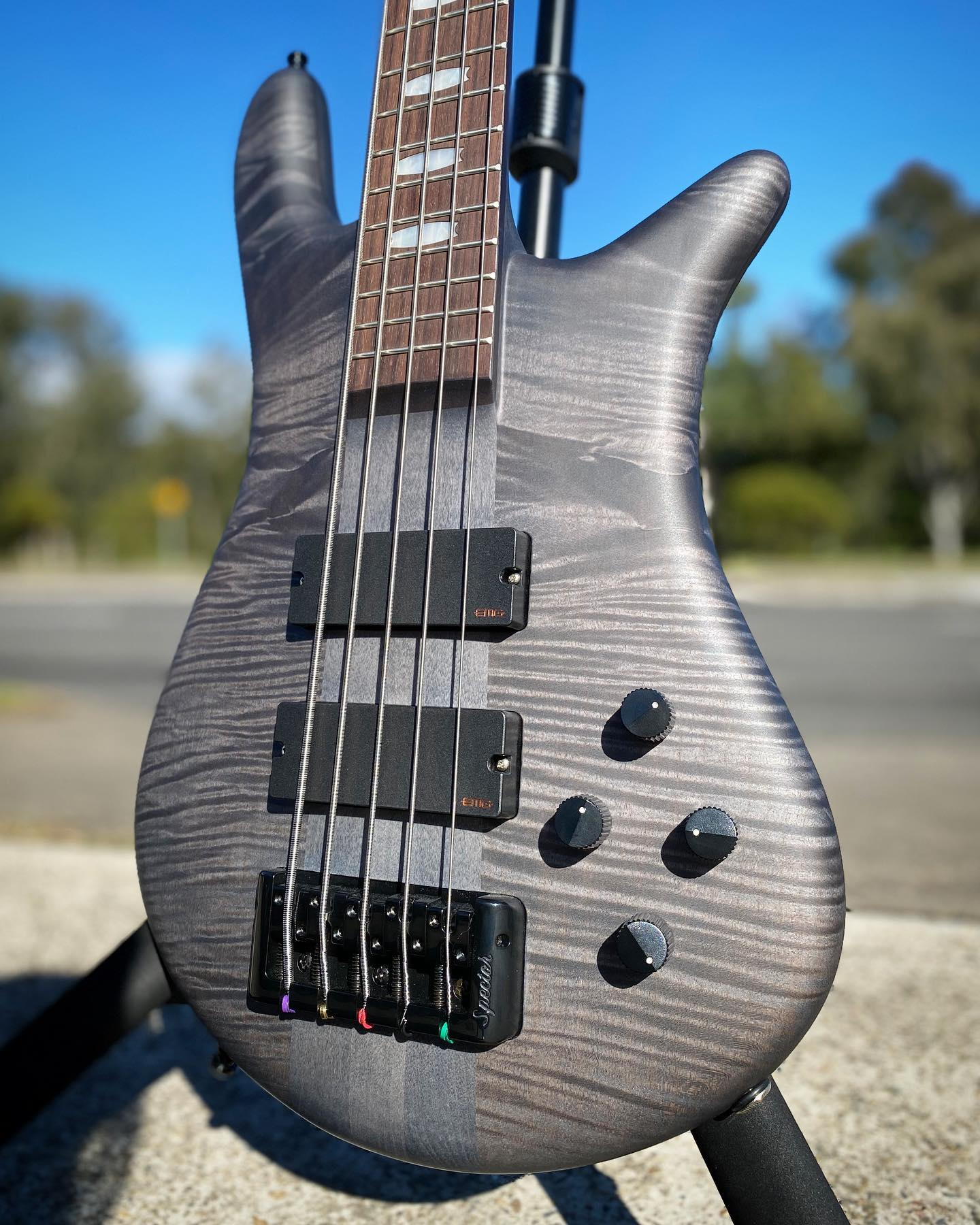 Spector Euro5 LX Bass Guitar 5-String Trans Black Stain Matte w/ EMGs