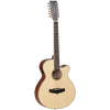 Tanglewood TW12CE Winterleaf Acoustic Guitar 12-String Superfolk Natural Satin w/ Pickup & Cutaway