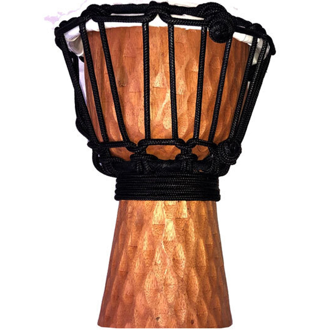 Toca Wooden Mini Djembe 4inch Carved Cherry Stain - SDMINICSS