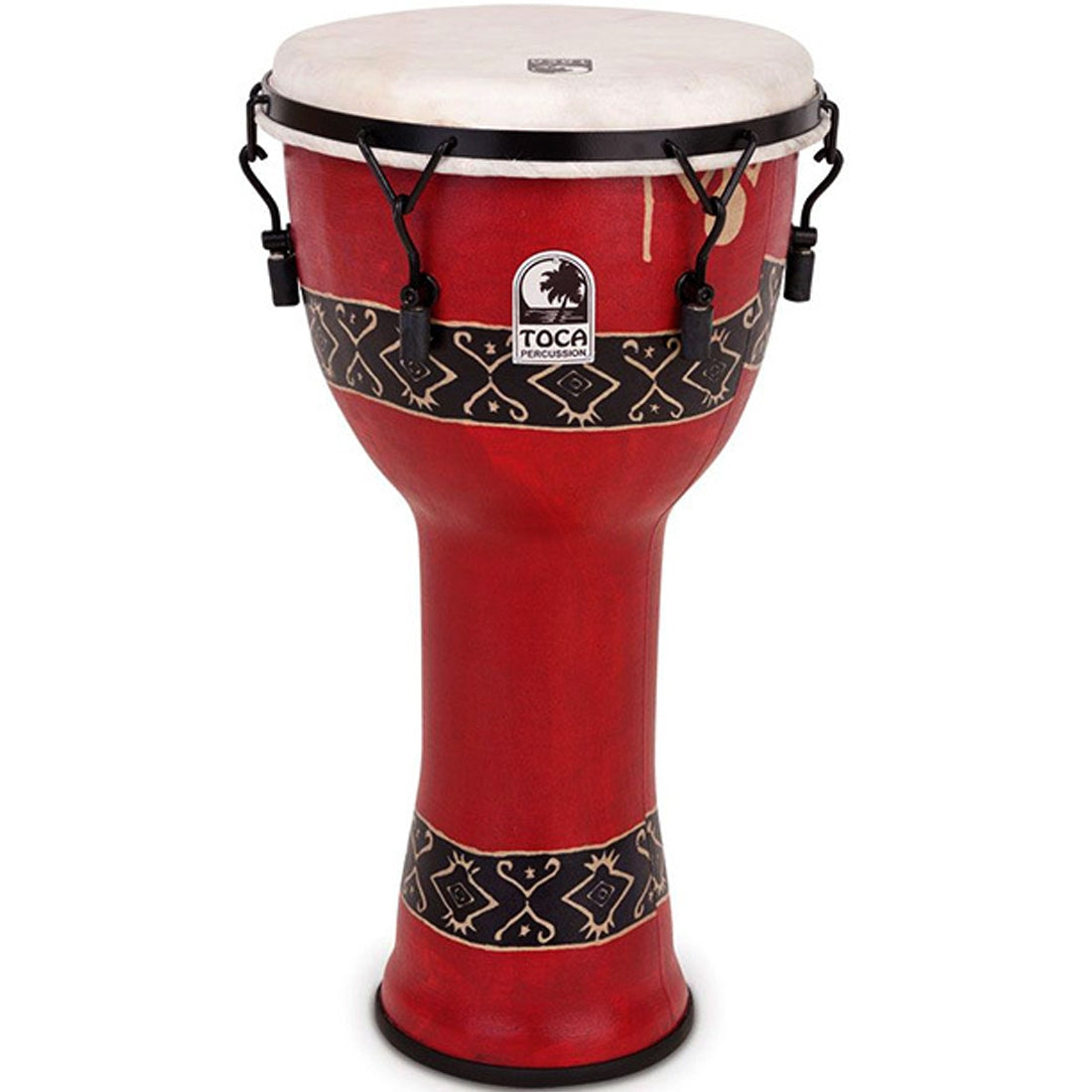 Toca Freestyle 2 Series Djembe 10inch Bali Red Print Mech Tune - TF2DM10RP