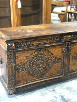 Rare & Very Old Hand Carved Trunk