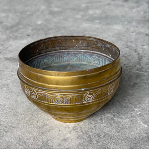 French brass jardiniere