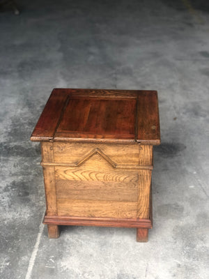 French oak bedside commode box