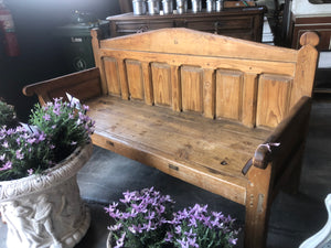 Large Antique Timber bench from Haute Savoie